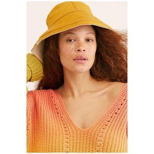Free People Maisy Reversible Canvas Hat